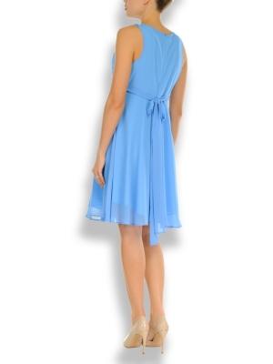 a fancy maternity dress in baby blue
