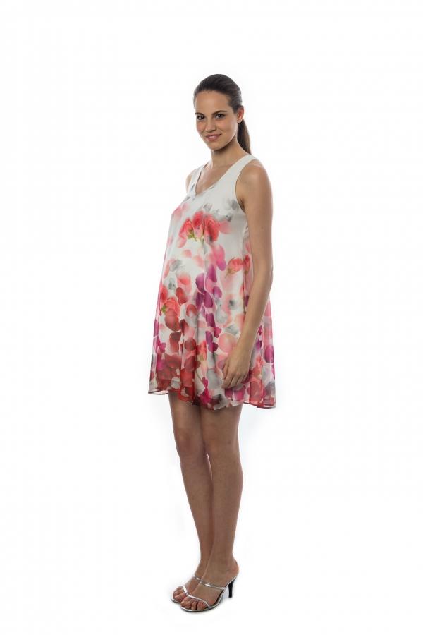 Pietro Brunelli American beauty Chiffon Dress