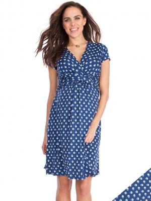 515cc9ecaf357 Paula Short Sleeve Bubble Print Maternity/Nursing Dress · Seraphine