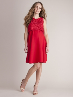 seraphine scarlet maternity and nursing dress