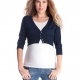 top it off with Seraphine's maternity cropped cardigan
