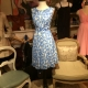 Pietro Brunelli Dress - Tamigi in Blue Feathers-0
