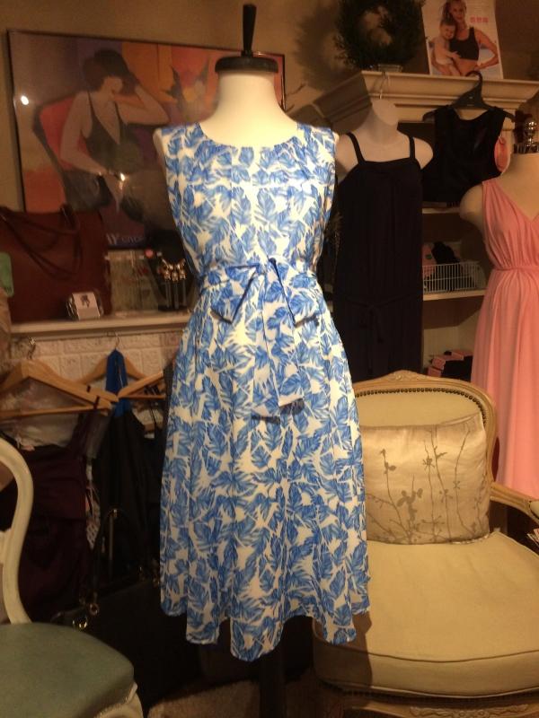 Pietro Brunelli Dress - Tamigi in Blue Feathers-15530