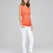 Isabella Oliver Sofia Maternity Top in Coral Rose-15580