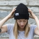 Blondie Brand Fine Rib Toque in Black-0