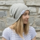 Blondie Brand ribbed toque in stone
