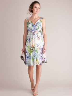 Seraphine Luxe Felicity Floral Silk Dress-0