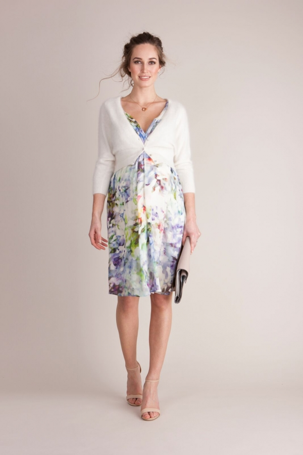 Seraphine Luxe Felicity Silk MATERNITY floral dress