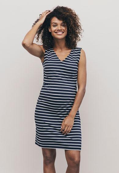 Boob Simone Sleeveless Dress in Stripes for Maternity & Nursing-0