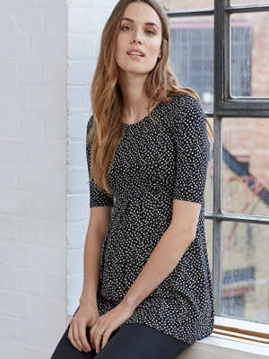 Isabella Oliver Danni Maternity Top in Polka Dots