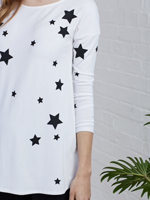 Maternity star print top