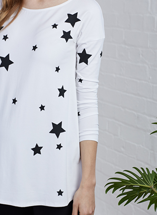 Maternity star print top