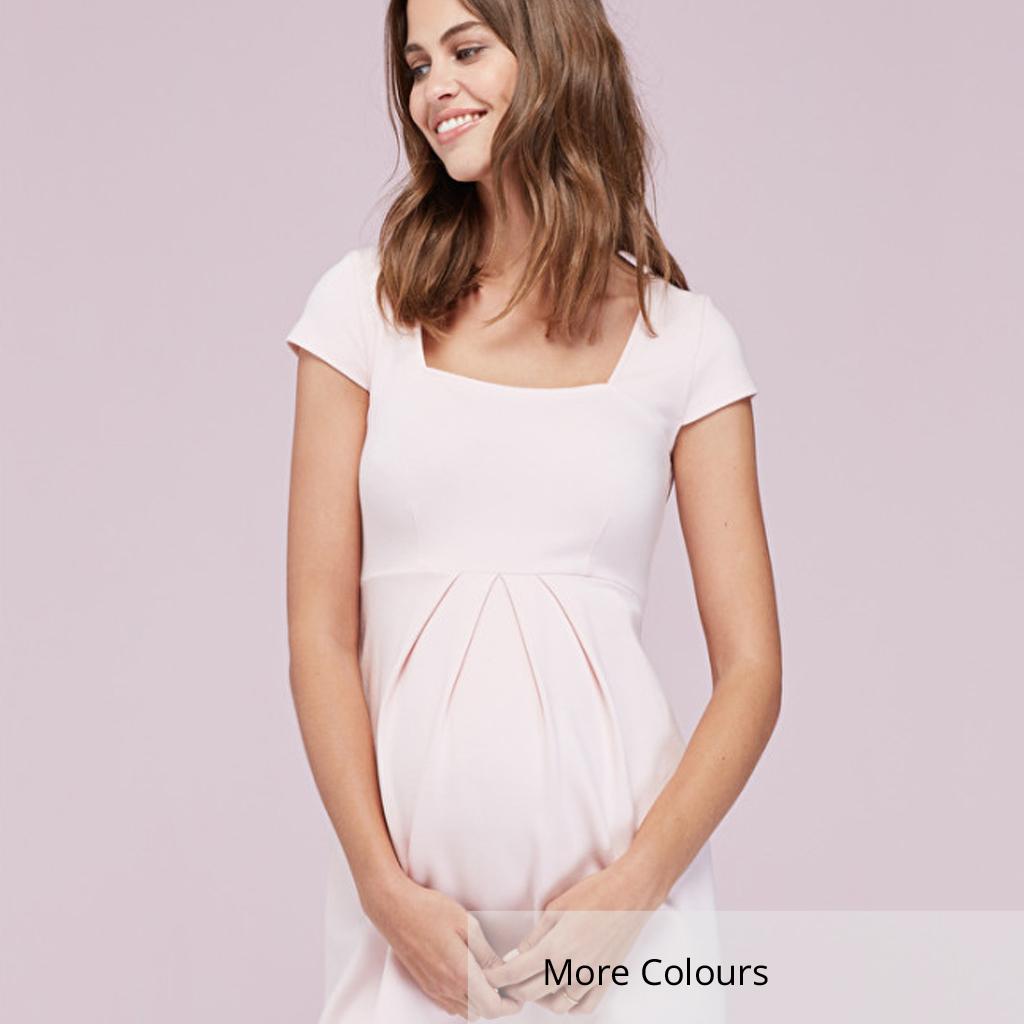 de7a9eef5f7ab Farah Maternity Shift Dress in Soft Blush - hautemama