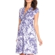 blossom lavender knot front maternity & nursing dress