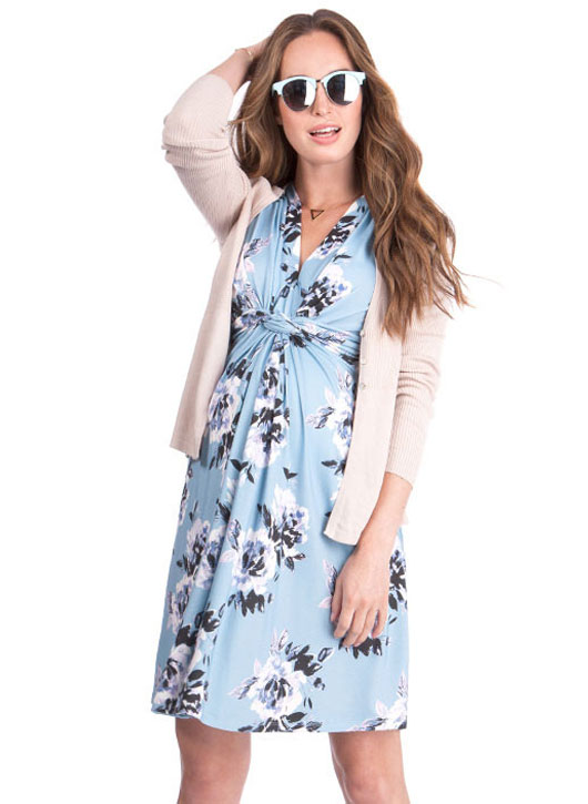maternity floral maternity dress