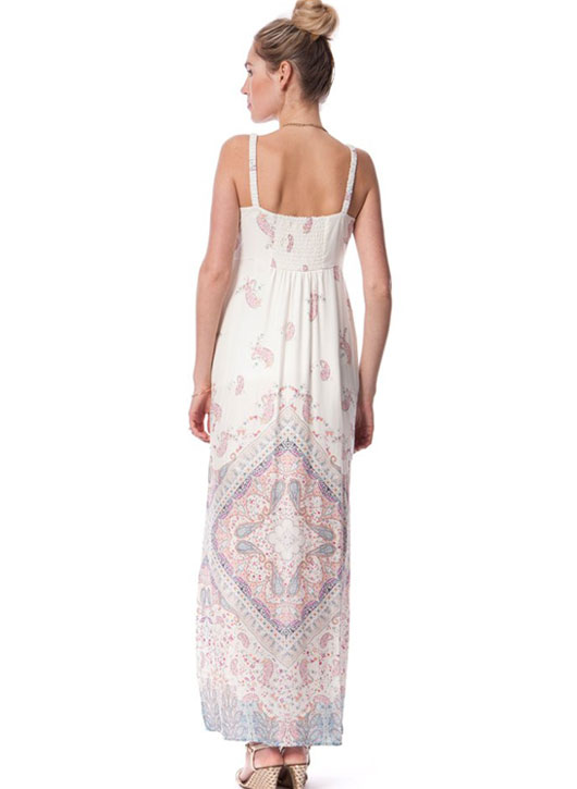 Seraphine Elisha Pastel Printed Maternity Maxi Dress-15843