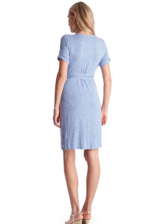 Seraphine Renata Baby Blue Polka Dot Maternity Dress-15851
