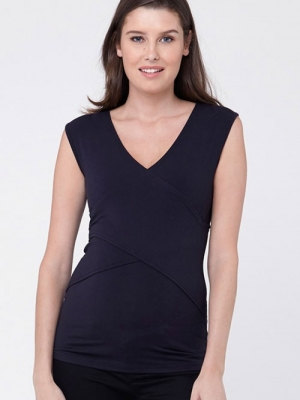 8c376555b8fff The Embrace maternity/nursing top with crossover detail at the bust allows  for convenient nursing without looking like a nursing top