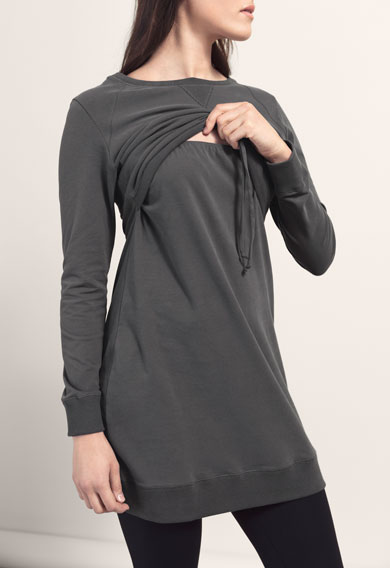 Boob design b-warmer cozy dress for matenity & nursing