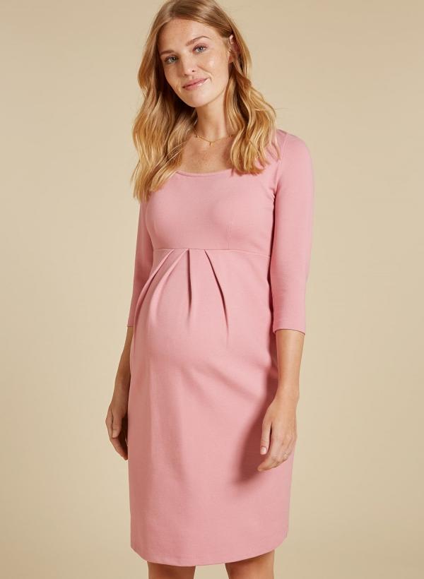 Paige Maternity Shift Dress in Winter Blush