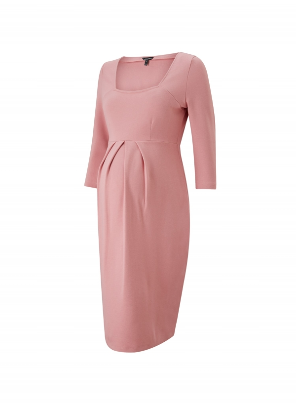 Isabella Oliver Paige Maternity Shift Dress in Winter Blush-15949