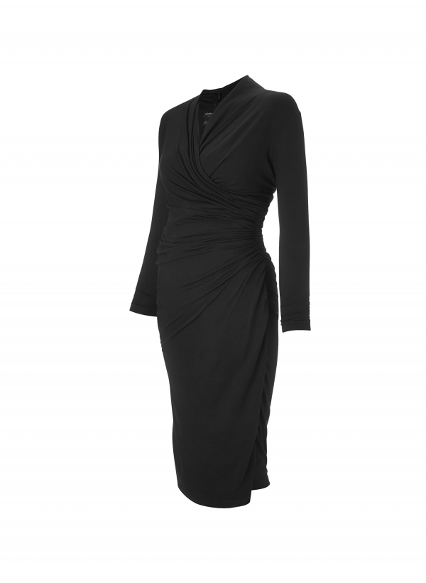 Isabella Oliver Balcombe Maternity Dress in Black-15954