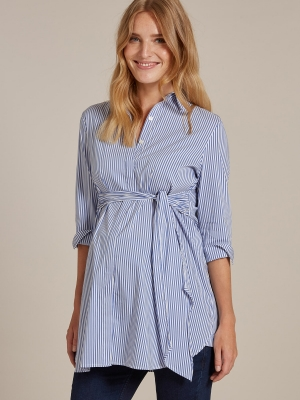 The Dora maternity striped shirt