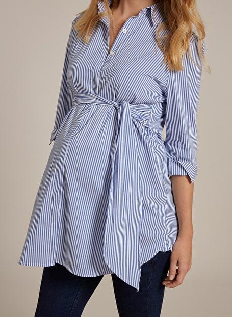 Isabella Oliver Dora Maternity Striped Shirt-15958