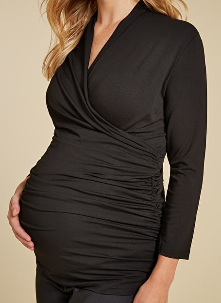 Isabella Oliver Balcombe Maternity Dress in Black-15952