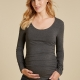 the maternity scoop top in grey