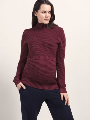 Boob long sleeve rib sweater for maternity & nursing