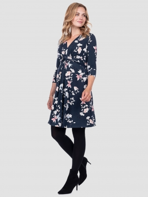 49f0218a890 Carys Floral Knot Front Maternity Dress · Seraphine