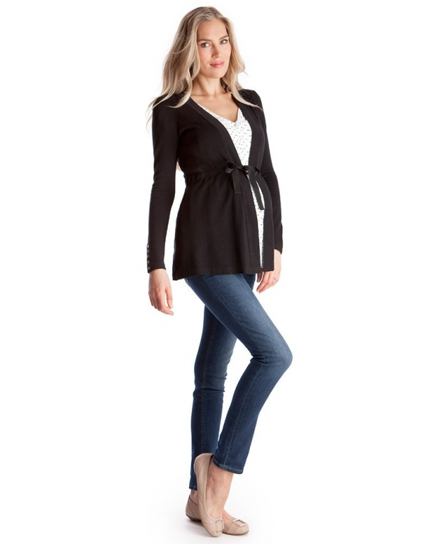 Seraphine Ariel Empire Belt Maternity Cardigan-16007