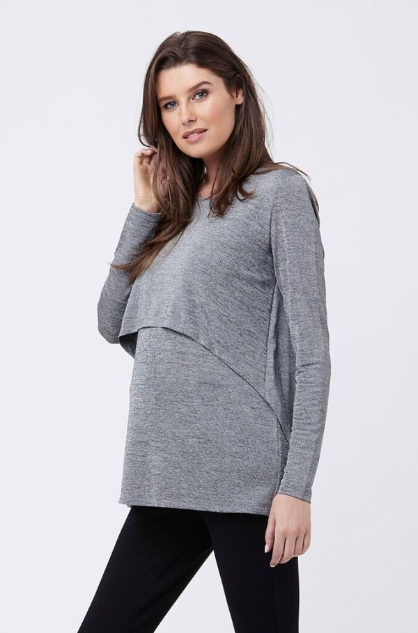 Ripe Metallic Maternity & Nursing Top