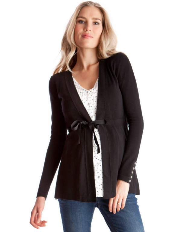 Black Cardigan with tie belt