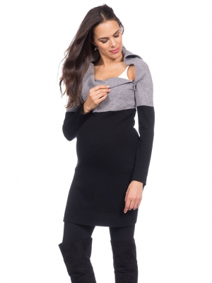 Seraphine Flavia Two-Tone Knitted Nursing Tunic-15989