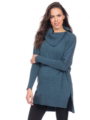 Seraphine Knitted Nursing Tunic in Teal