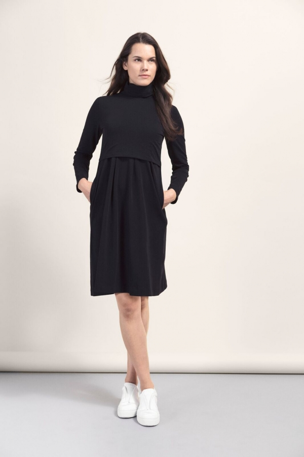 Boob Mini Polo Neck Dress in Cassis (Only)-16138