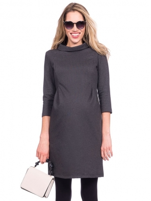 Seraphine Funnel Neck Jerseyh Maternity Dress