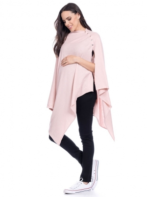 Seraphine blush nursing cover maternity shawl