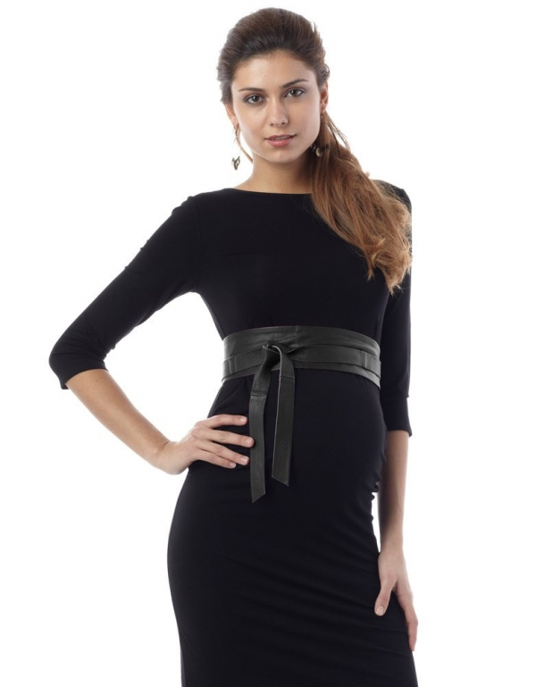 Seraphine Belt - Black Leather Japanese Maternity-16036