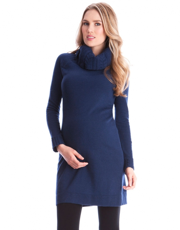Seraphine Roll Neck Maternity Dress