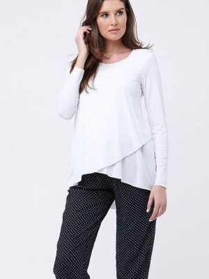 Ripe Raw Edge Nursing Top-16124