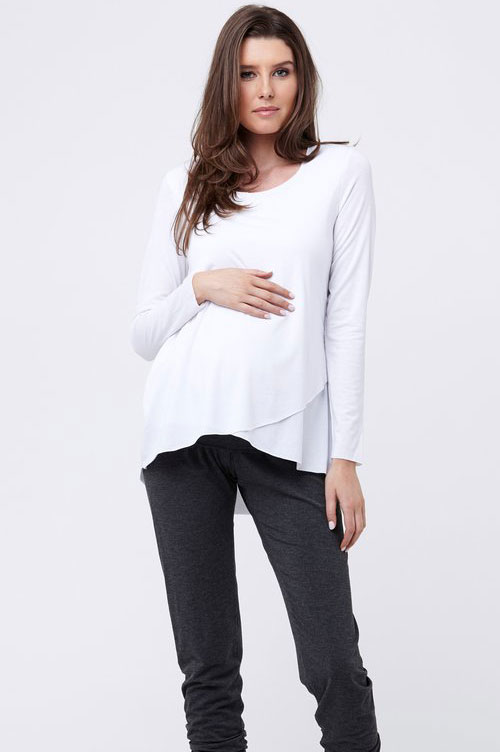 Ripe Raw Edge Nursing Top-16122