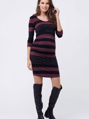 Ripe striped tube dress for maternity & nursing