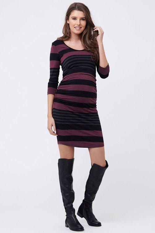 Ripe striped tube dress for maternity & nursing