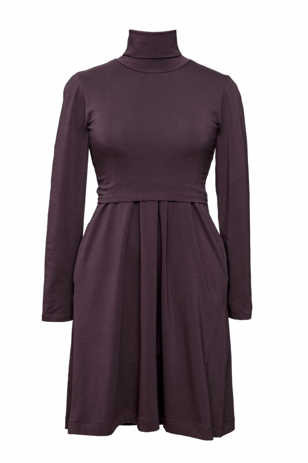 Mini Polo Neck Dress for matermity and nursing