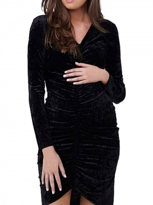 Ripe velvet ruched dress