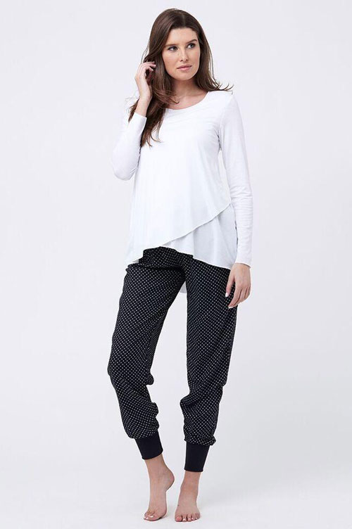 Raw Edge Nursing Top