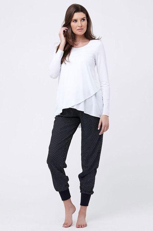 Tori Sleep pants in polkadots